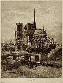 Fin de la construccion de la Catedral de Notre Dame