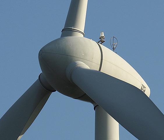 la nacelle de l'éolienne