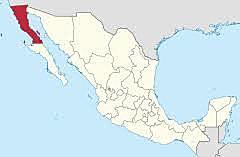 El Territorio de Baja California Norte se convierte en Estado de la Federación