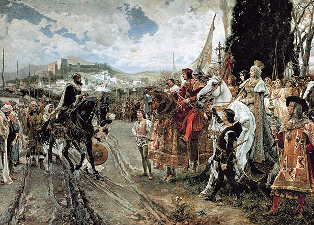 Toma de Granada por parte de los reyes catolicos