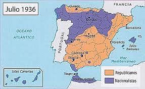 Espanya es divideix en dos bàndols