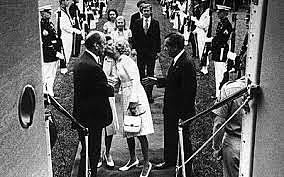 La visita de Nixon a México.