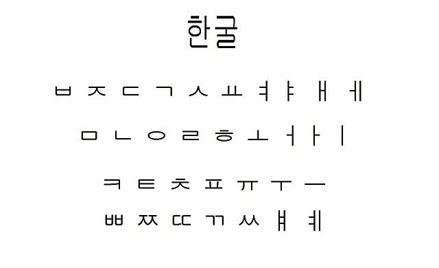 Корейское алфавитное письмо хангыль.