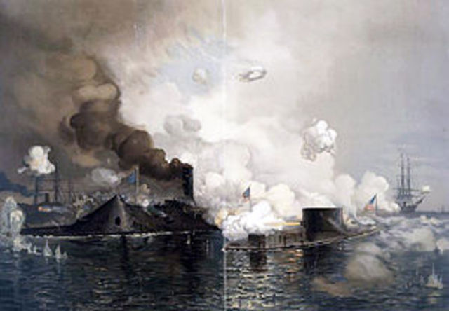 Battle of the Monitor and Merrimack (or Merrimac)