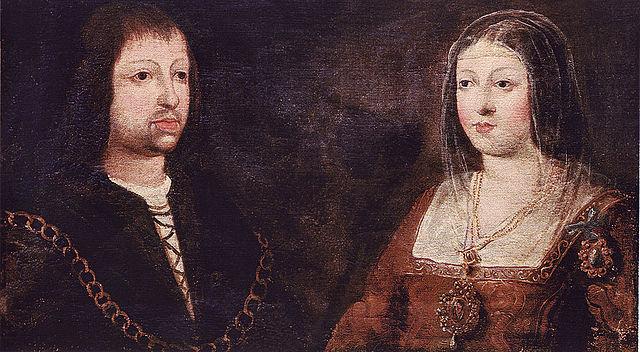 Casament d'Isabel de Castella i Ferran d'Aragó, els futurs Reis Catòlics.