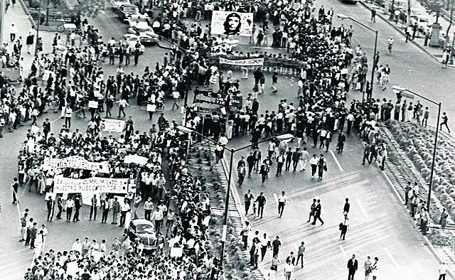Matanza de los estudiantes del 68.