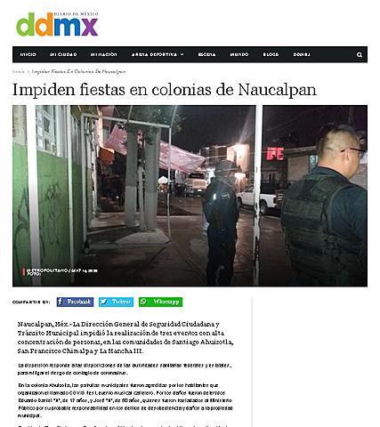IMPIDEN FIESTAS EN COLONIAS DE NAUCALPAN