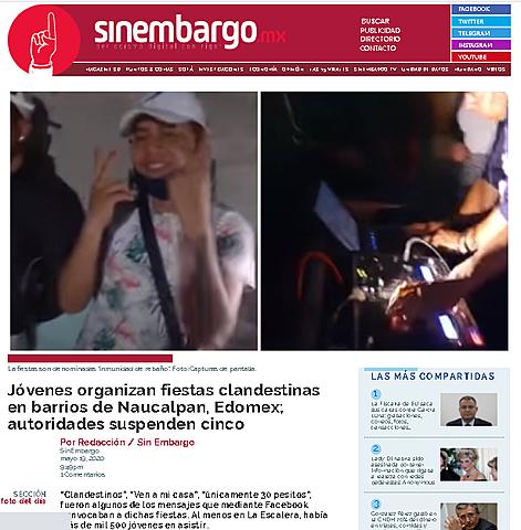JÓVENES ORGANIZAN FIESTAS CLANDESTINAS EN BARRIOS DE NAUCALPAN, EDOMEX; AUTORIDADES SUSPENDEN CINCO