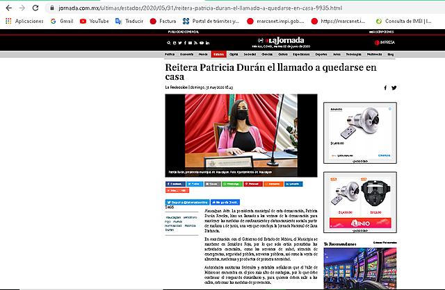 REITERA PATRICIA DURÁN EL LLAMADO A QUEDARSE EN CASA