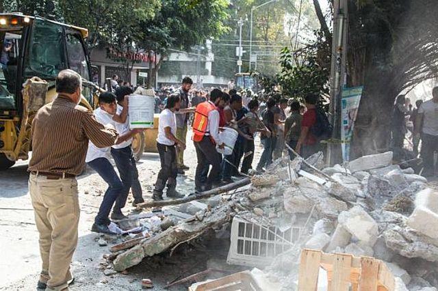 Un temblor de 7 grados en la escala de Richter azota los territorios de los estados de Oaxaca, Puebla y Guerrero,