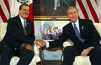 Reunión de Fox con Bush en Monterrey