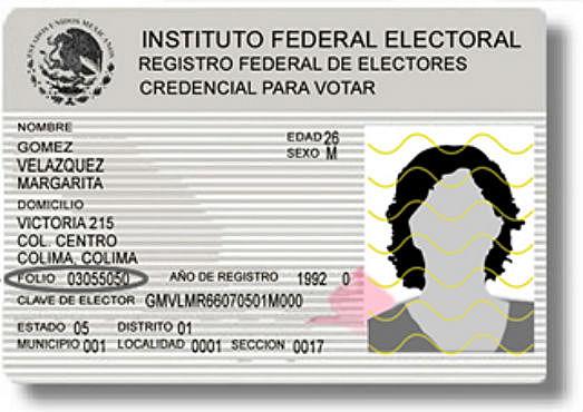 La credencial para votar con fotografía.