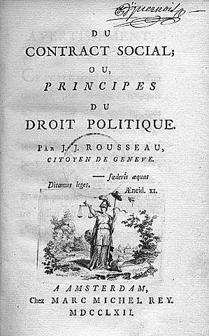 Rousseau: ´´El contrato social´´