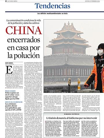 Xina tancats a casa per la pol•lució