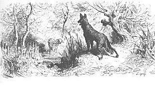 """""""El lobo y el cordero"""";Jean de la Fontaine"""