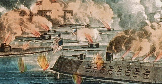 Confederate guns opened fire Oil Fort Sumte