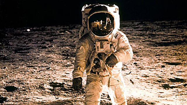 Walking on the moon!
