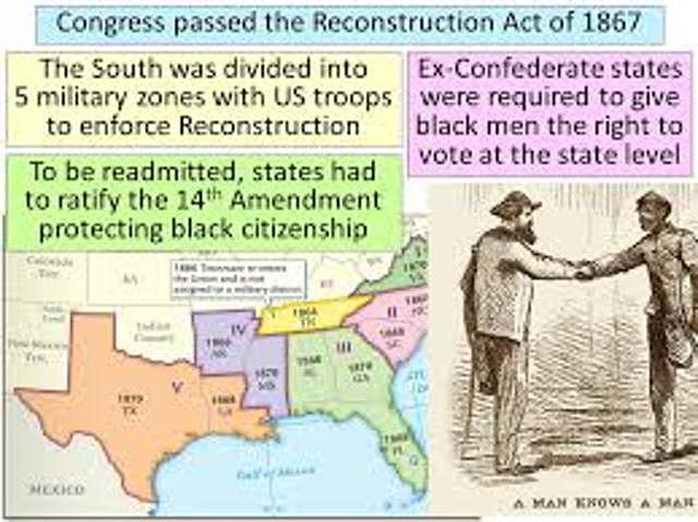 Congress passed the Reconstruction Act