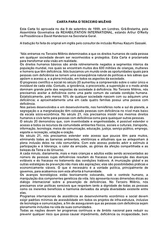 Carta do Terceiro Milênio