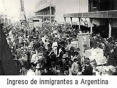 Llegada de inmigrantes.