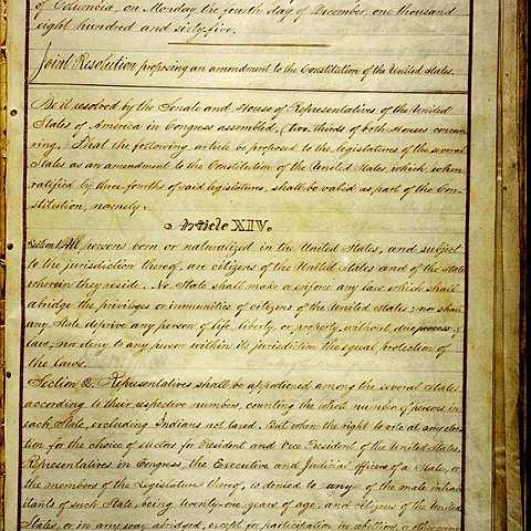 14th Amendment to Constitution