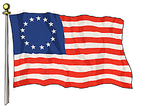 First flag and first constitution of US