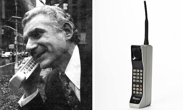 Martín Cooper realizó la primera llamada desde un teléfono móvil