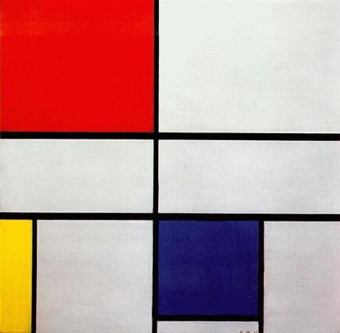 """""""Композиция С (No III) с красным, желтым и синим"""" Питер Мондриан"""