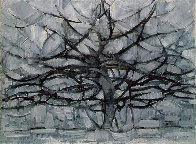 """Серое дерево"" Питер Мондриан"