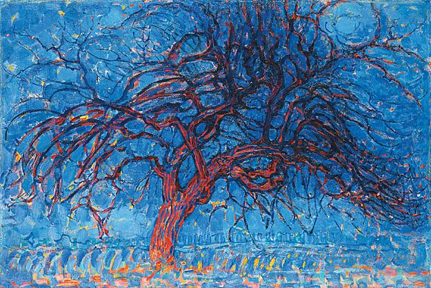 """Вечер. Красное дерево"" Питер Мондриан"