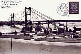 Inauguración del Puente Colgante.