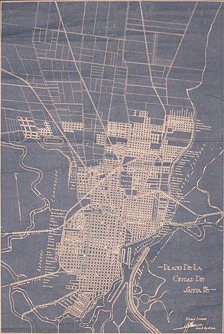 Ciudad de Santa Fe en 1930.