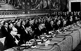 Teaties of Rome were singned 1957 and 1958