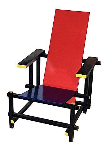 """""""Красно-синее кресло (стул)"""" Геррит Ритвельд"""
