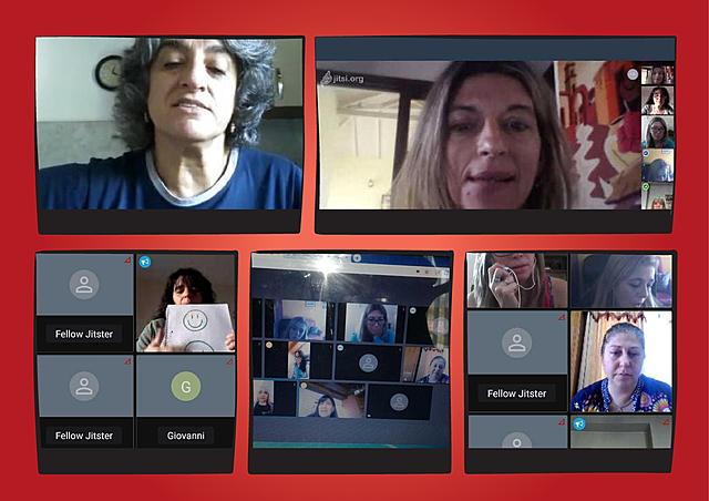Reunion virtual de directivos y docentes