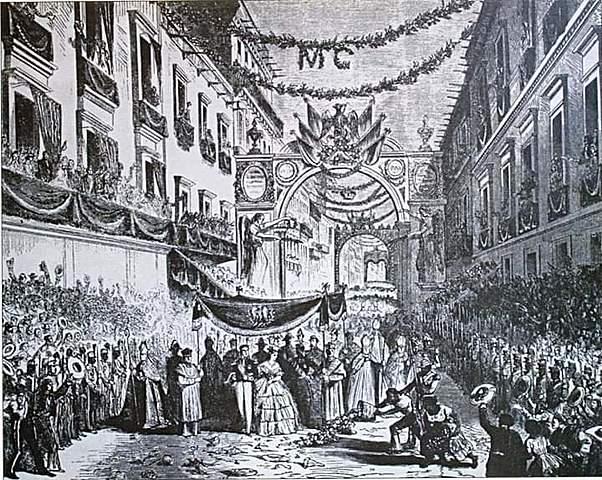 Entrada de Carlota y Maximiliano a la Ciudad de México