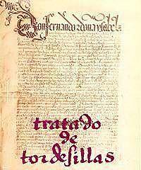 La firma del Tratado el 7 de junio de 1494