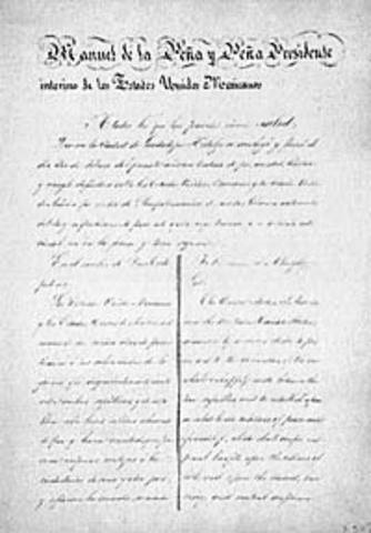 Treaty of Guadalupe Hidalgo was signed by Mexico
