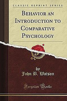 "Publicación de ""Behaviour an Introduction Comparative Psychology"""