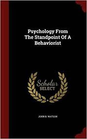 """Publicación de """"Psychology from the Standpoint of a Behaviorist"""""""