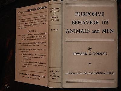 """Publicacion de """"Conducta Intencional en Animales y Hombres"""" Edward Chace Tolman"""