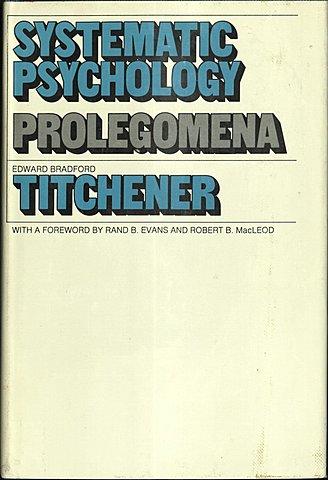 """Publicación de """"Systematic Psychology: Prolegomena"""" Edward Titchener"""