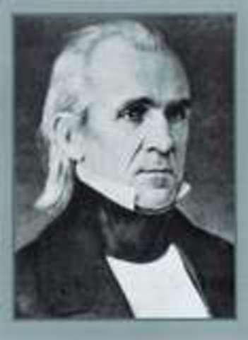 President James K. Polk confirms gold