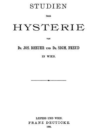 """Libro en colaboración con Breuer """"Estudios sobre la histeria"""" (Freud)"""