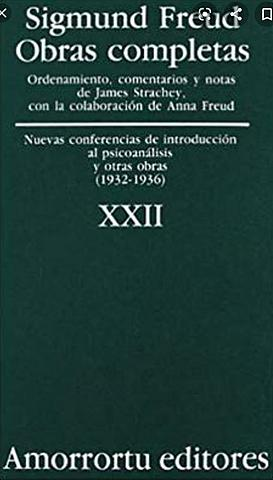 """Publicación de""""Nueva introducción al psicoanálisis"""", Freud"""