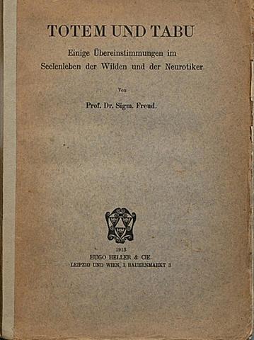"""Publicacion de""""Tótem y Tabú"""", Freud"""
