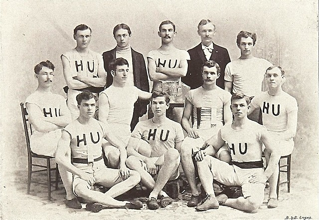The first collegiate Basket ball Game