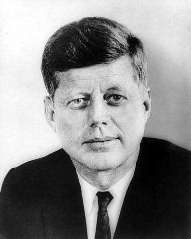 President Kennedy challenges the nation to go to the moon before the end of the decade (US)