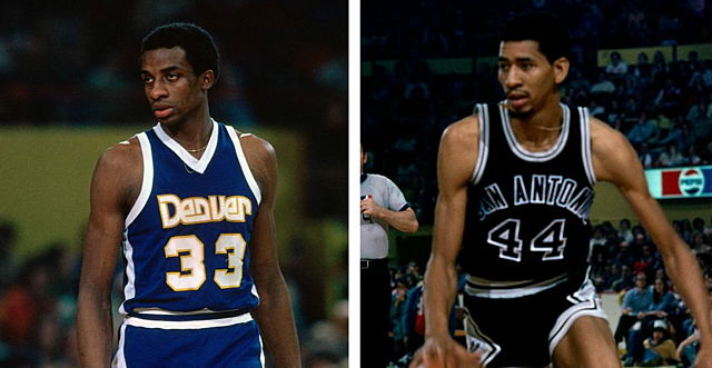 Stars George Gervin and  David Thompson Duel it out