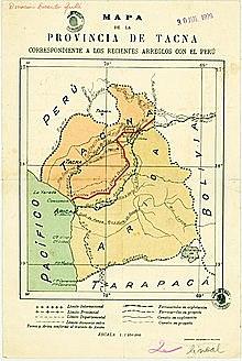 Tratado Rada y Gamio | El arreglo de límites con Chile